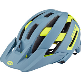 Bell Super Air MIPS Helm, matte/gloss blue/hi-viz